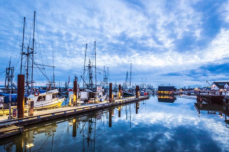 Steveston Fisherman's Wharf at Blue Hour