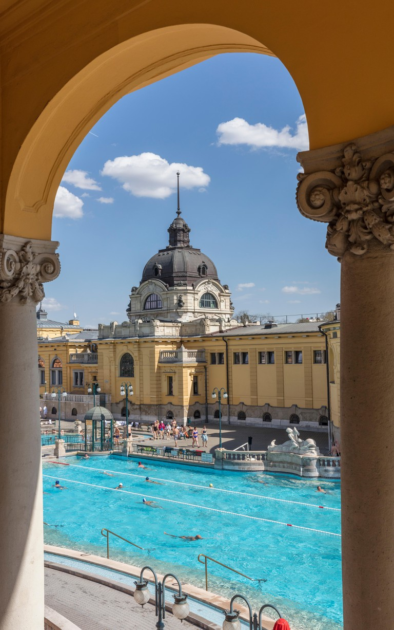 Szechenyi Thermal Baths, Budapest, Hungary.