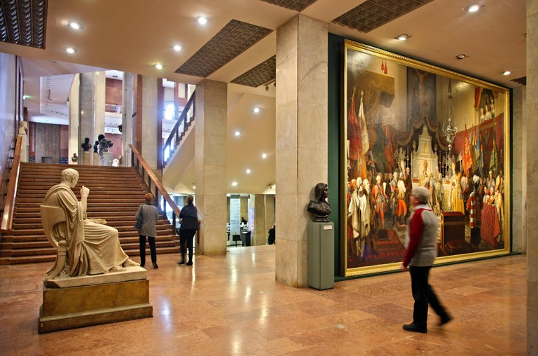In the Hungarian National Gallery, located in the Royal Palace, Buda castle, Budapest, Hungary