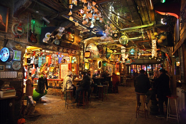 "The ""Szimpla Kert"" one of the oldest and most famous ""Ruin-pubs"" in Budapest, Hungary"