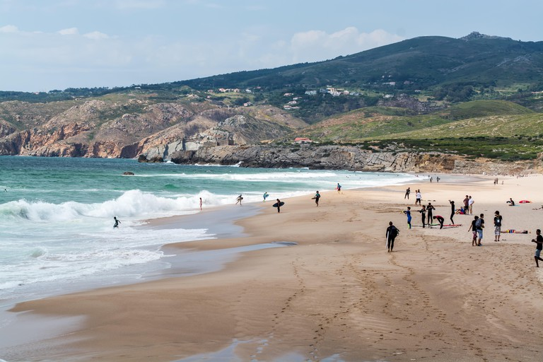 View of Guincho beach, Portugal.