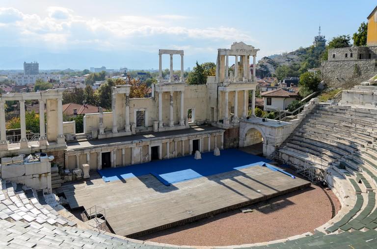 Ancient Roman theatre of Philippopolis, Plovdiv, Bulgaria
