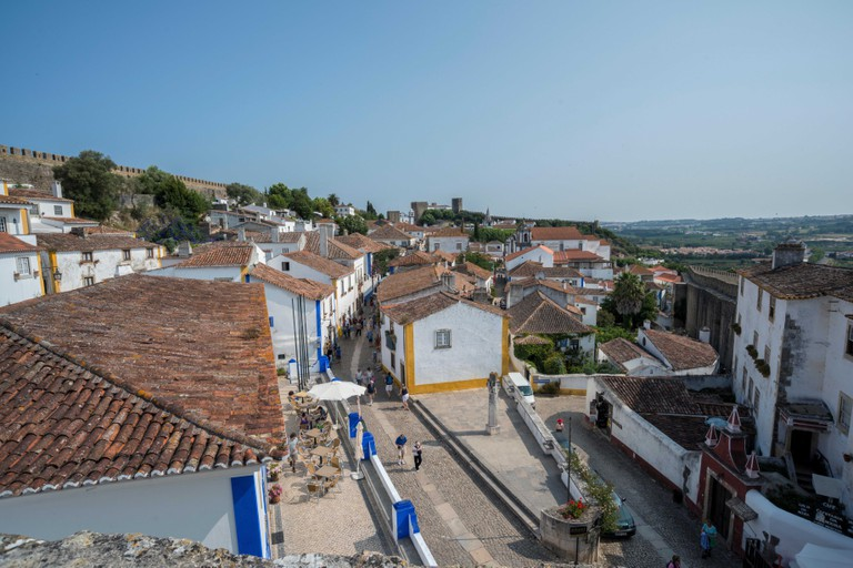 Portugal, Obidos, view of main street (Large format sizes available)
