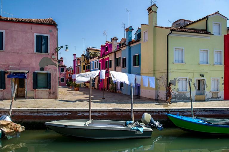 The Island of Burano near Venice, Italy.