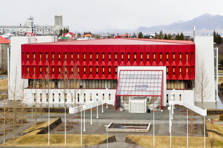 REYKJAVIK, ICELAND - APRIL 22, 2013: National and University Library of Iceland on April 22, 2013 in Reykjavik, Iceland.