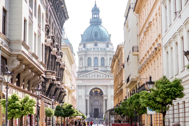 Central street in Budapest