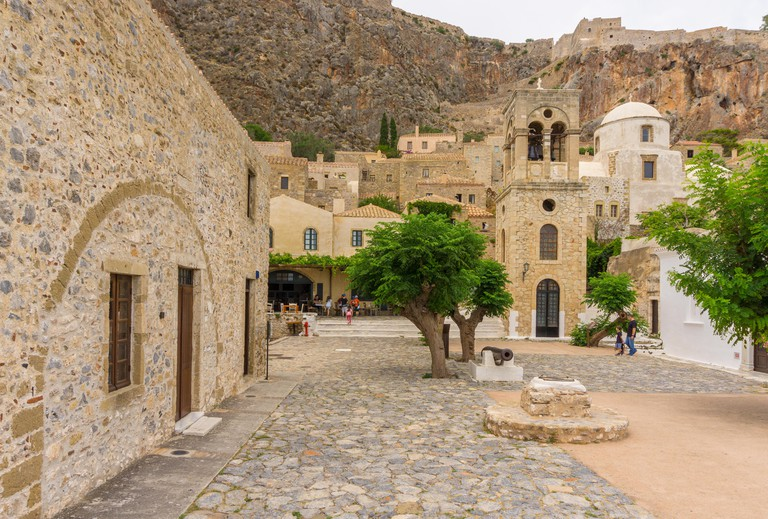 Medieval castle town of Monemvasia in Lakonia of Peloponnese