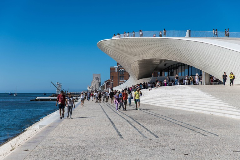 MAAT - Museum of Art, Architecture and Technology designed by Amanda Levete Architects in Lisbon Portugal