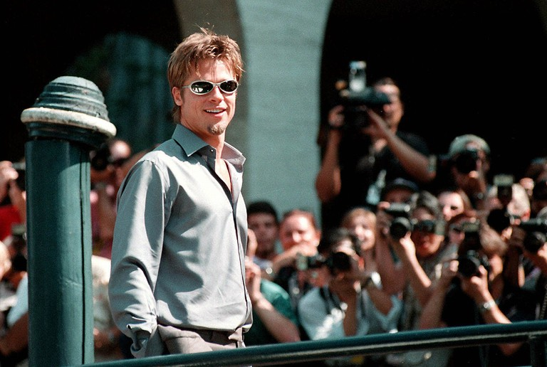 Brad Pitt arrives at Venice Film Festival, 1999