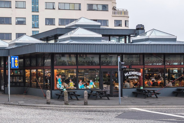 Hlemmur square in Reykjavik, capital city of Iceland