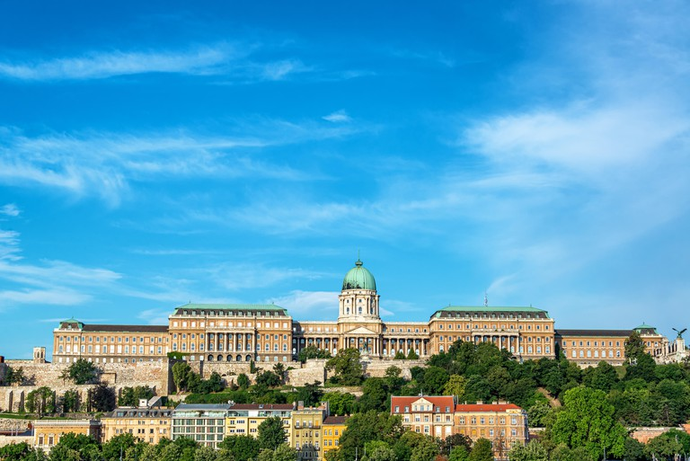 View of the Hungarian National Gallery in Budapest, Hungary