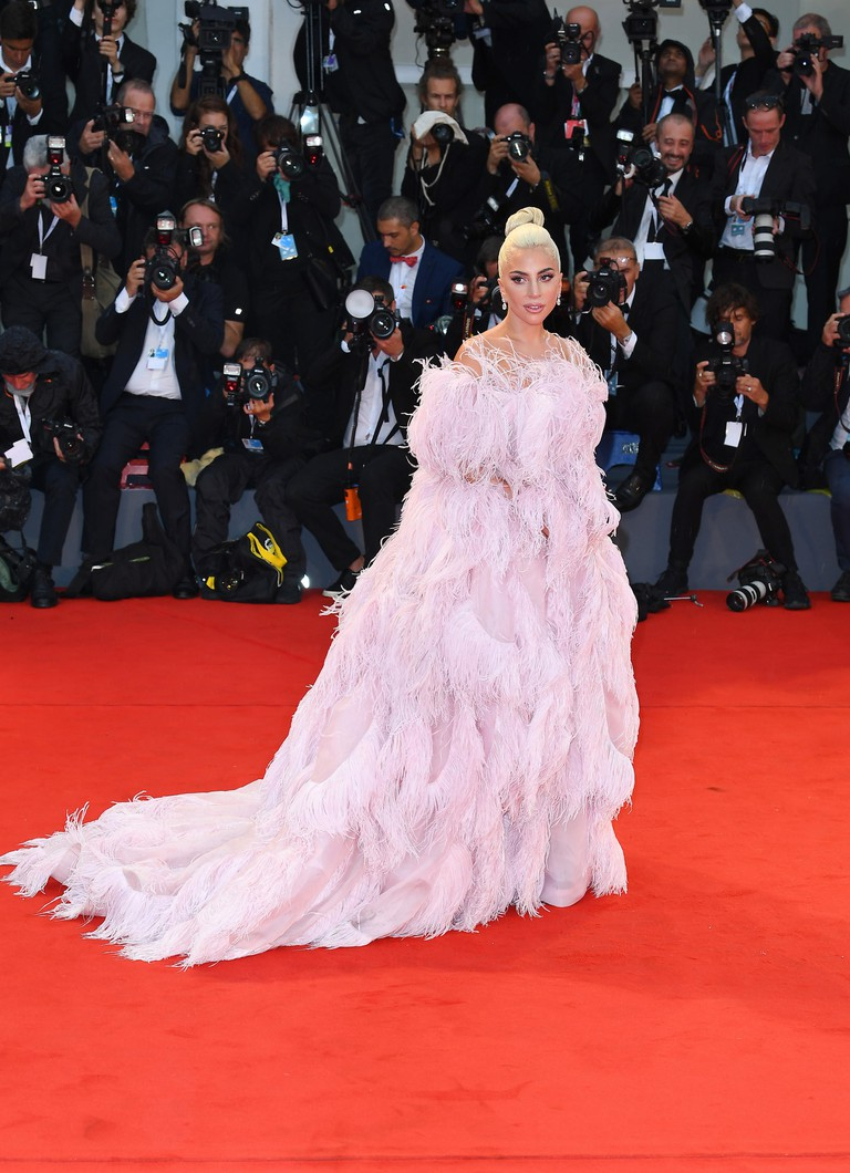 Lady Gaga arrives during the 75th Venice Film Festival