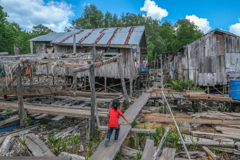 Kampung Meruap is a collection of rickety wooden homes on stilts