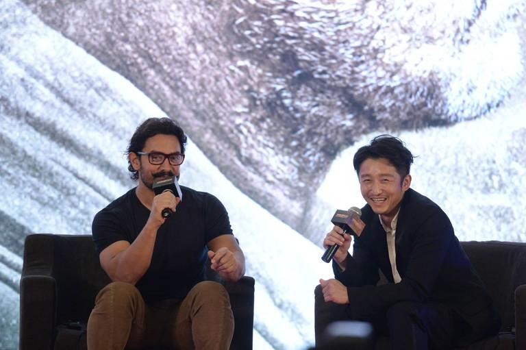 Aamir Khan, Zou Shiming 'Dangal' film photocall