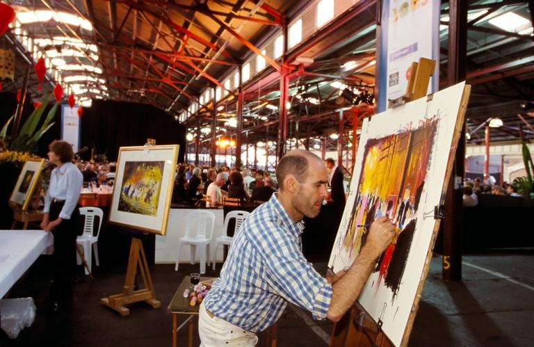 Queen Victoria Market Artist
