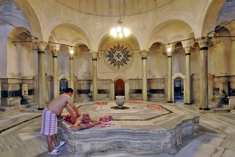Cagaloglu Turkish Bath in Istanbul Turkey. Image shot 2007. Exact date unknown.