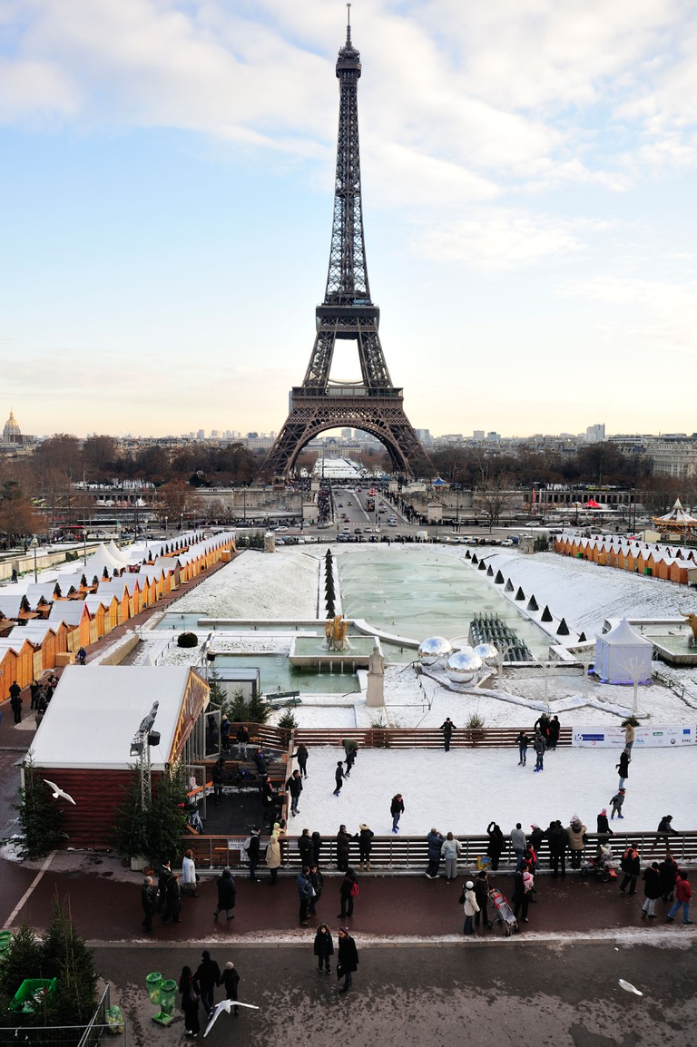 Ice Skating Ring under the Eiffel Tower
