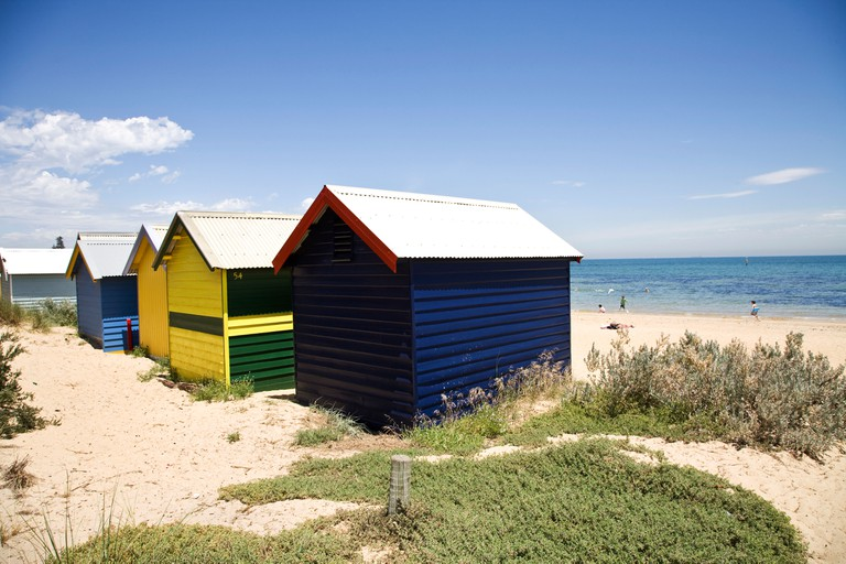 Beach Huts at Brighton Beach, Melbourne, Australia.