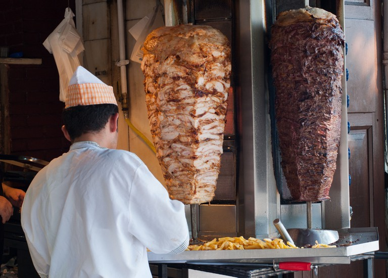 Turkish Kebab shop in Istanbul, Turkey.