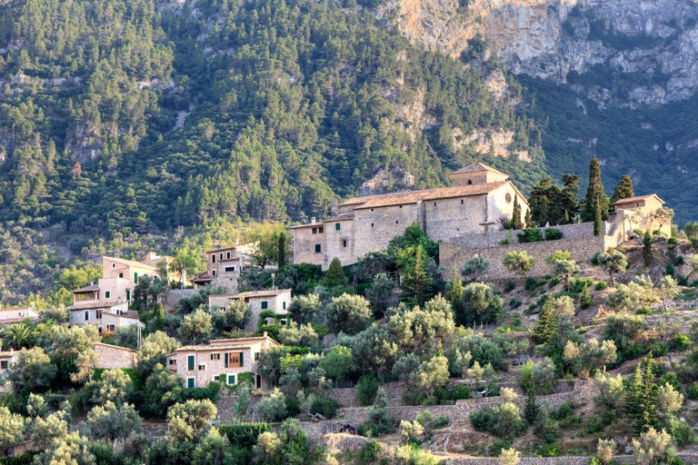 Spain, Balearic Islands, Mallorca, Serra de Tramuntana, Deia Village