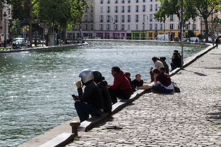 Relax by the Canal Saint-Martin