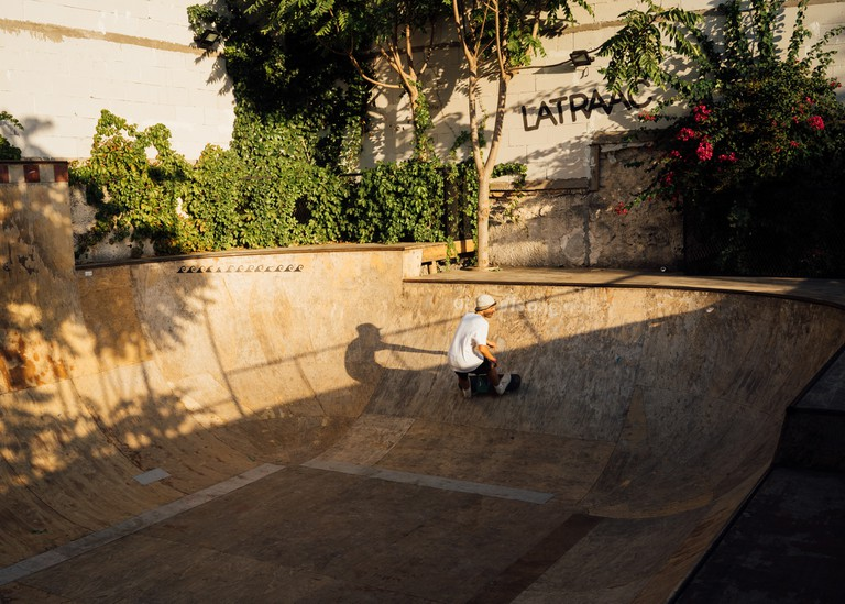Latraac Skate Cafe in Athens, Greece