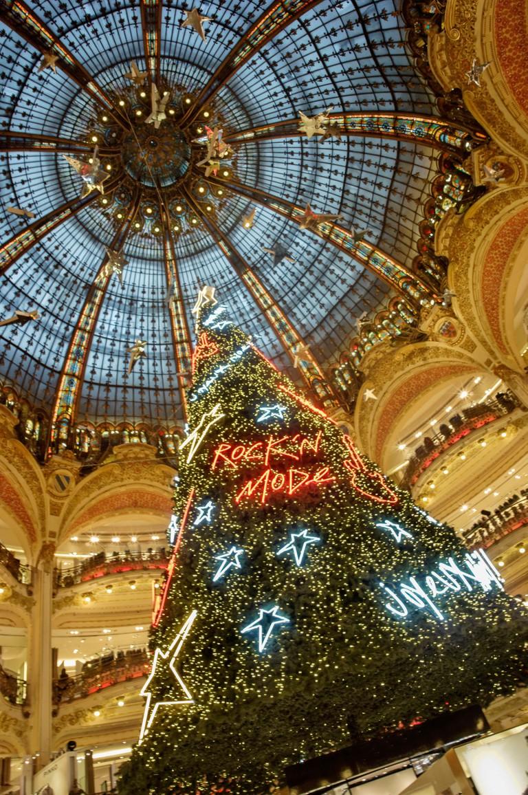 Galerie Lafayette at Christmas Paris.