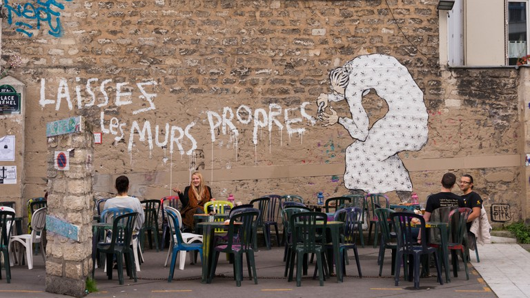 Street art and humour in Paris (keep the walls clean)