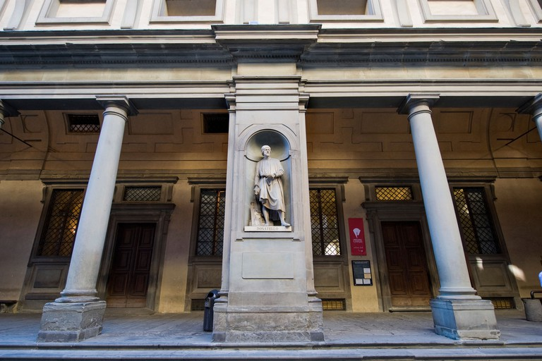 donatello statue,galleria degli uffizi,florence,italy