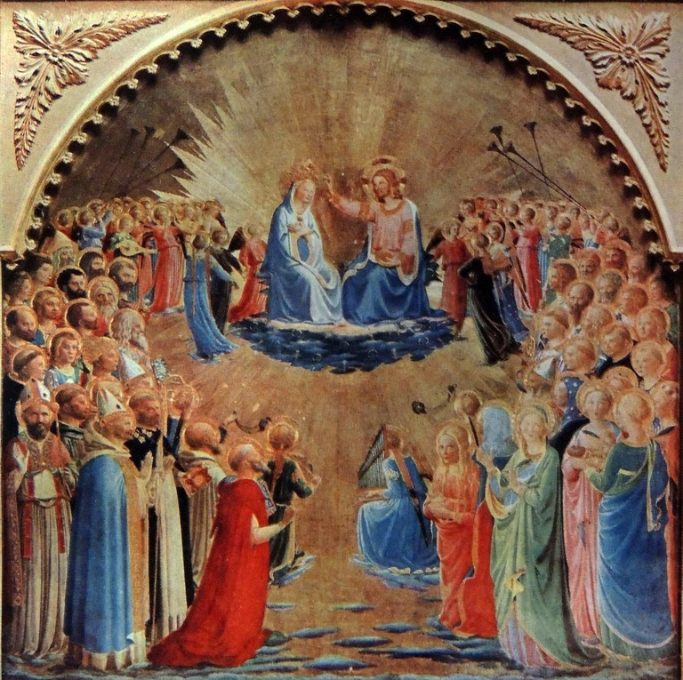 The 'Coronation of the Virgin' by Fra Angelico