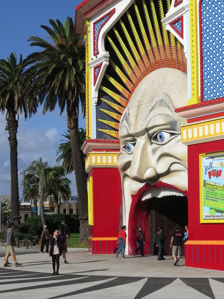 Luna Park at St Kilda, South Melbourne, Australia.