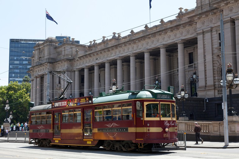City circle tram in Melbourne, Australia.