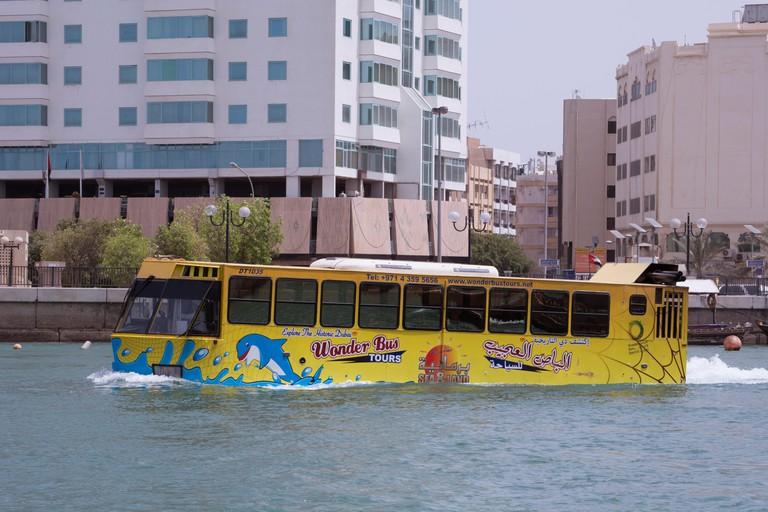 Wonder Bus tour on Dubai Creek