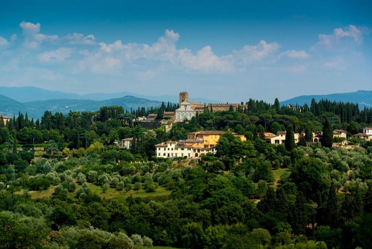 Exterior of San Miniato al Monte. Florence, Italy.