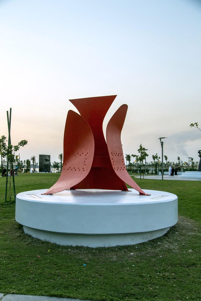 Alexander Calder (1898-1976) Flexibility of Balance, 1974 Painted steel; height 300 cm