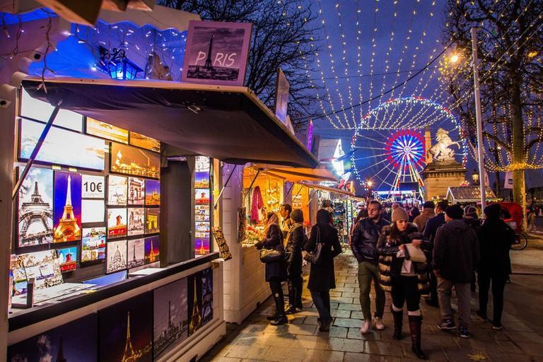 Christmas lights at Champs Elysee, Paris.