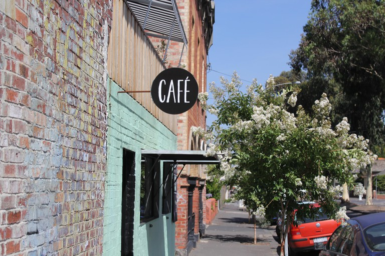Cafe in the Fitzroy neighbourhood in Melbourne, Australia.