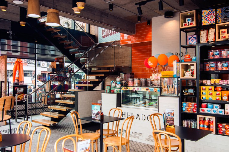 Coffee shop, Brunswick Street, Fitzroy, Melbourne, Victoria, Australia