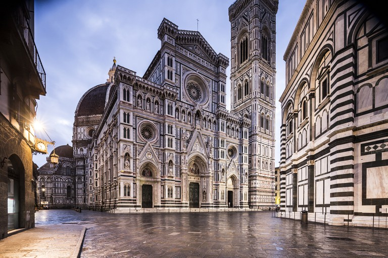 Piazza del Duomo and the Duomo in Florence.