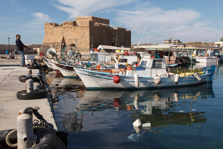 Paphos Harbour and  Castle, Cyprus