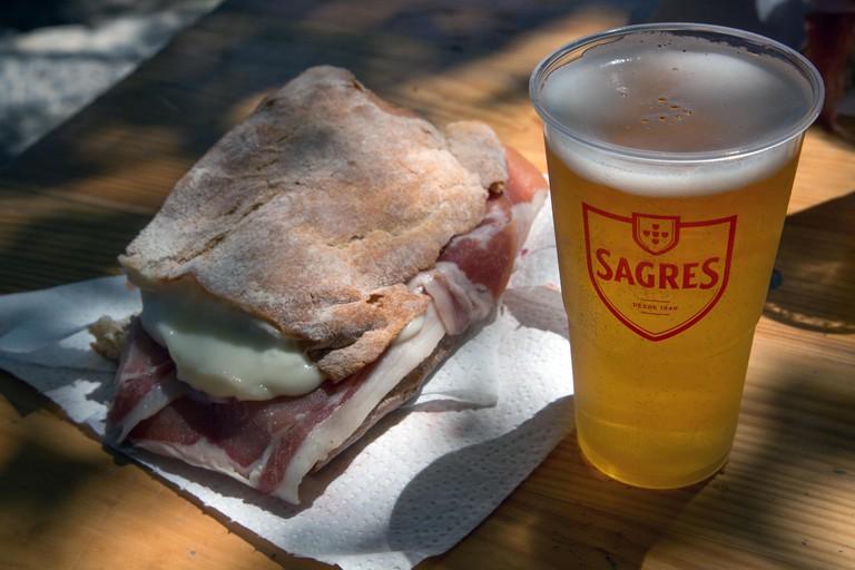 A fresh sandwich and Portuguese larger