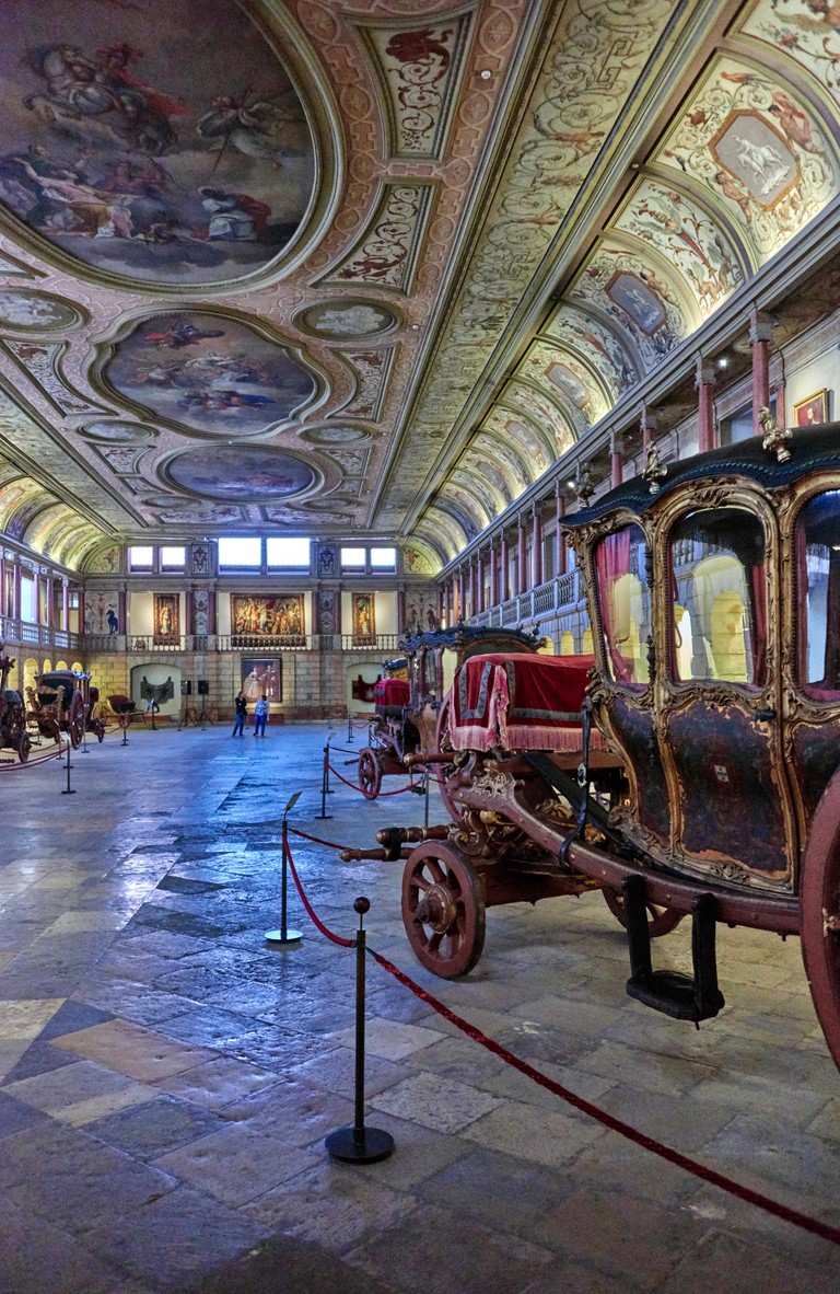 The National Coach Museum (Portuguese: Museu Nacional dos Coches) is located on the Afonso de Albuquerque Square in the Belem
