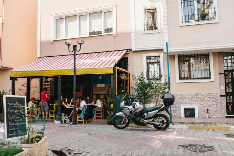 A coffee shop in the Kadikoy district