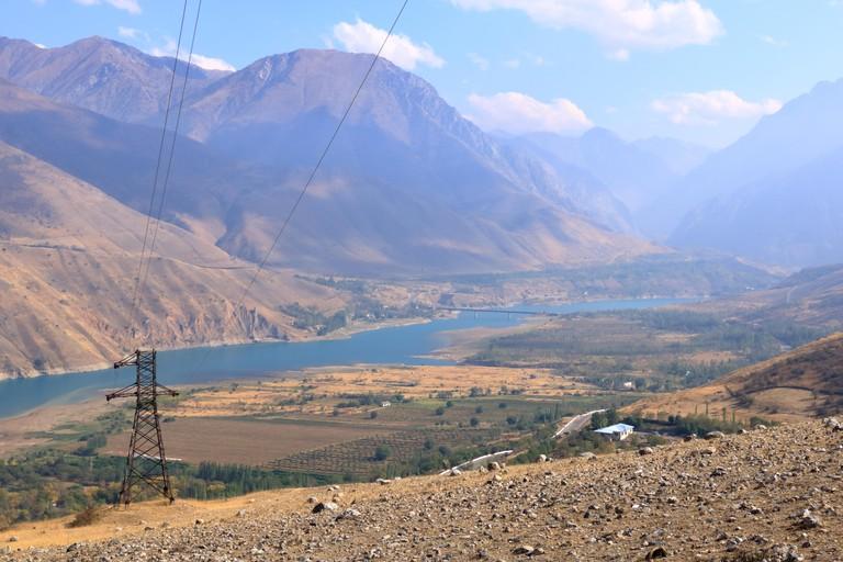 Charvak water reservoir near Tashkent