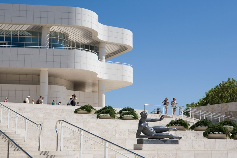 The Getty Center's main entrance.