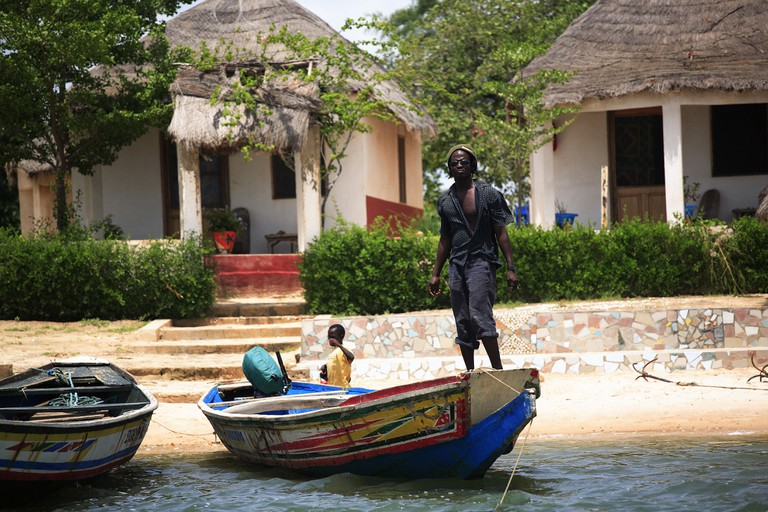 Daily life, Sine-Saloum Delta, Republic of Senegal, Africa
