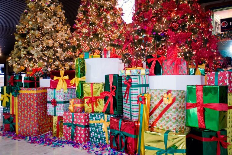 Christmas display at Mactan International Airport, cebu, philippines