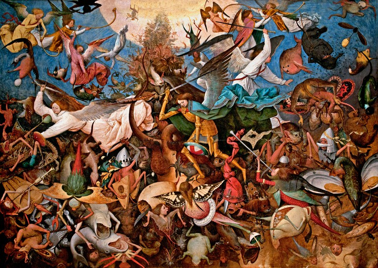 The Fall of the Rebel Angels by Pieter I Brueghel 1527-1569 Flemish Belgian Belgium