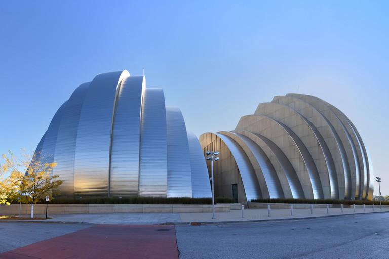 KANSAS CITY, MO - OCTOBER 11: Kauffman Center for the Performing Arts building in Kansas City, Missouri.