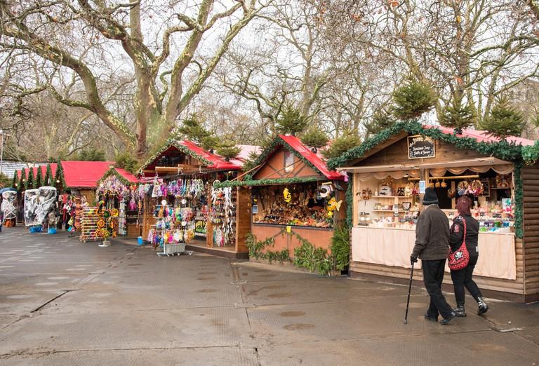 Christmas market at Winter wonderland, London